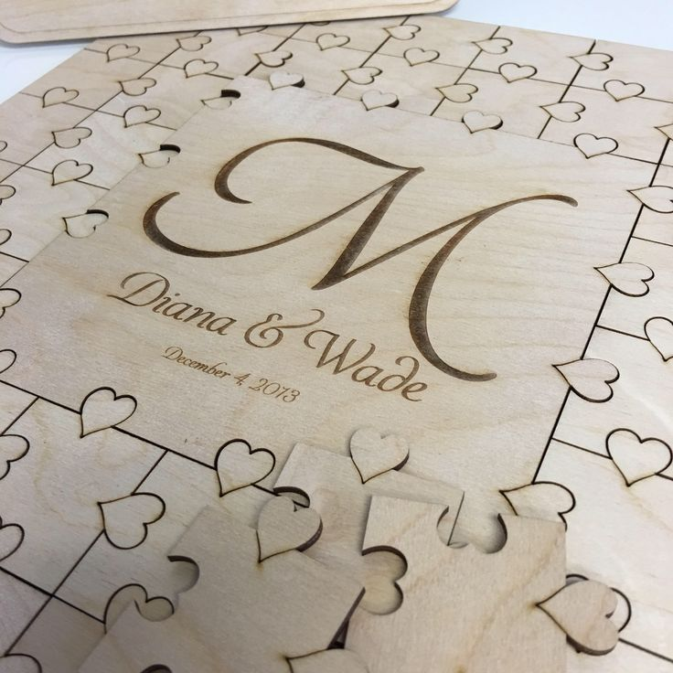 50-300 piece Puzzle Guest Book Wedding Guest Book Large Letter Alternative Guest Book Hearts GuestBook Unique Guestbook Wedding Book Heart by EngravedWeddings on Etsy https://www.etsy.com/listing/531794898/50-300-piece-puzzle-guest-book-wedding