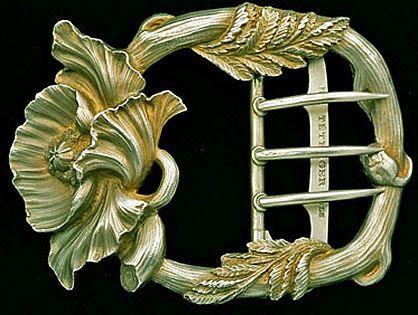 gilt silver art nouveau buckle: