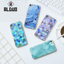 Caso del Patrón de Piedra De Granito De Mármol Textura ALANGDUO Para iphone6S 4.7/Plus 5.5/7 7 Más Fino Suave Cajas Del Teléfono IMD Cubierta de Coque