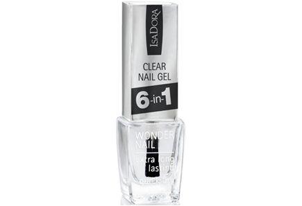 IsaDora Clear Nail Gel 6-in-1 -kynsilakka 6 ml