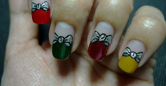 15 Simple & Easy Christmas Nail Art Designs & Ideas 2012 For Beginners & Learners | Girlshue