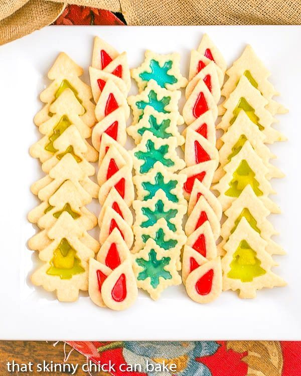 Stained Glass Cookies | Adding a little crushed candy to your sugar cookies makes for a fabulous holiday cookie!
