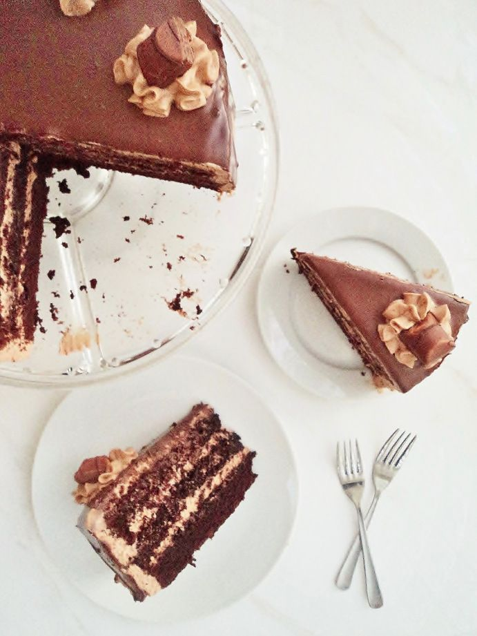 hazelnut praline chocolate cake