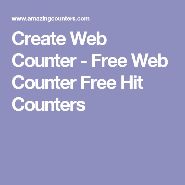 Create Web Counter - Free Web Counter Free Hit Counters