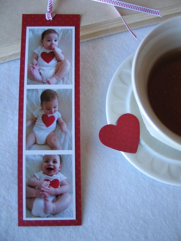 Geschenke zum Muttertag ideen babyfotos lesezeichen basteln