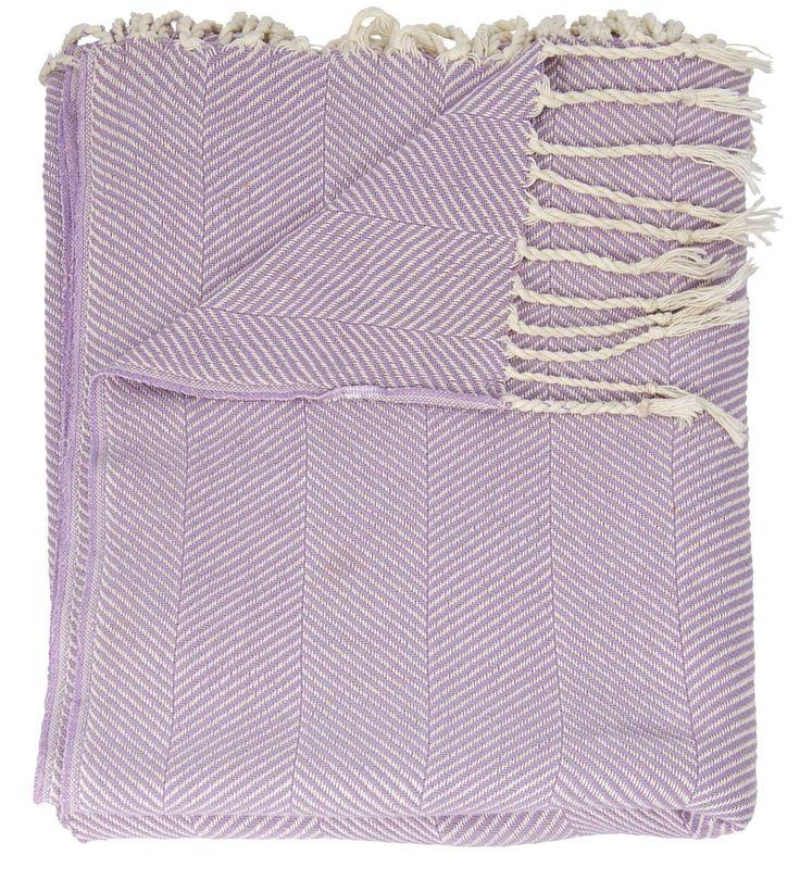 Mina Victory Throw Organic Cotton Throw Purple Throw Blanket