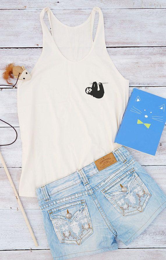 Sloth top women shirt cool tshirt women graphic design tees