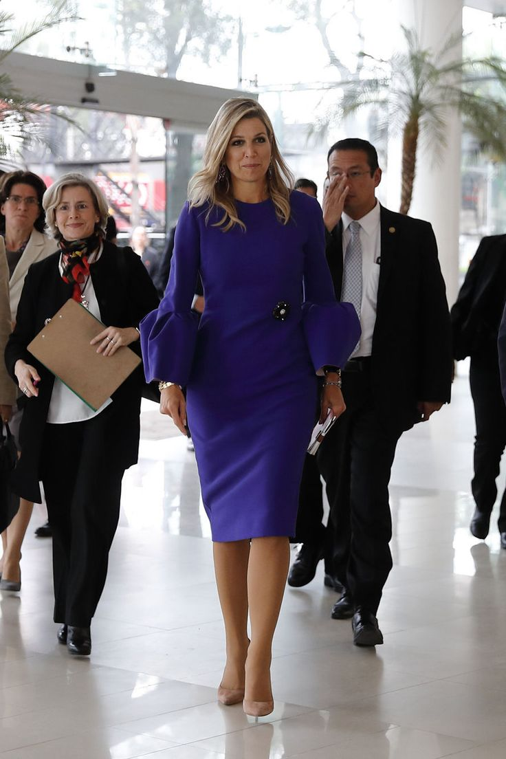 7 September 2017 - Queen Maxima attends the opening ceremony of the 3rd International Forum for Financial Inclusion in Mexico City - dress by Roksanda