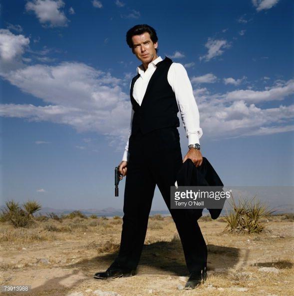 Irish actor Pierce Brosnan appearing as British secret service agent James Bond late 1990s