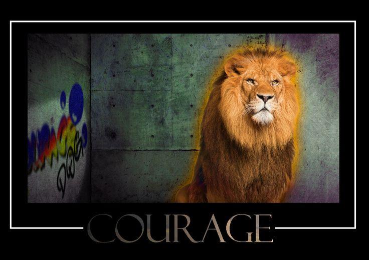 Courage, dog!