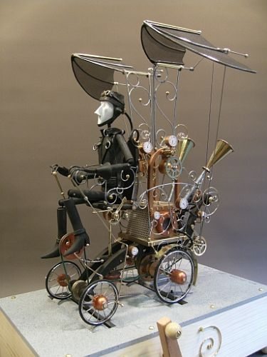 More steampunk inspired automata. I think this guy prices his stuff too low, but, at least it's accessible.