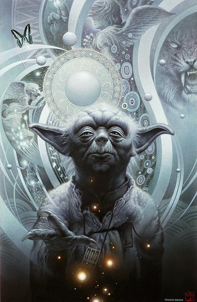 Yoda from Star Wars. #Fantasy #screen savers at www.fabuloussavers.com/fantasyscreensavers.shtml