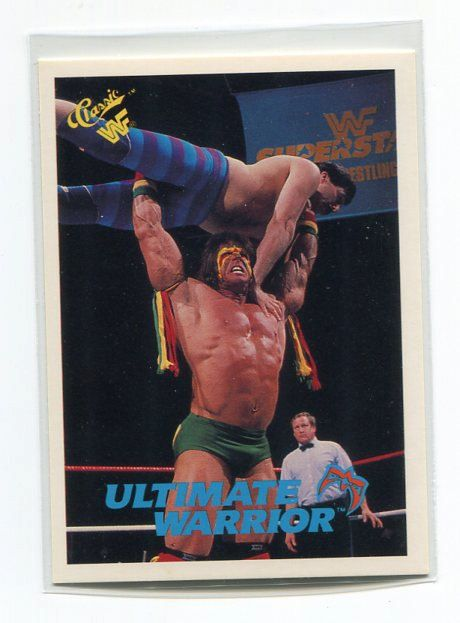 1990 WWF Classic ULTIMATE WARRIOR Trading Card -TripleGCollectibles, $3.00