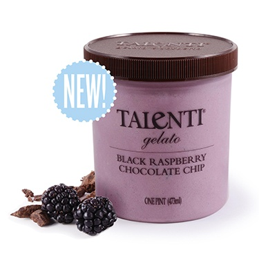 Black Raspberry Chocolate Chip Gelato (found it at Target!) -- Took me back to going to Friendly's with my sister as a teenager for black raspberry ice cream with chocolate sprinkles.