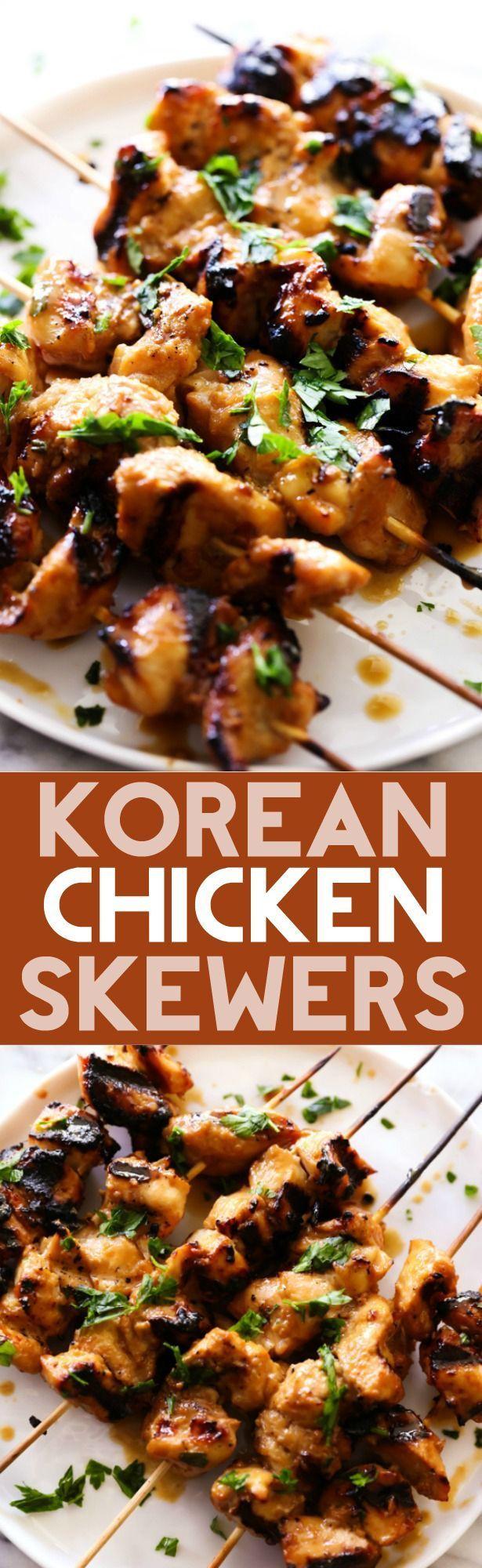 Korean Chicken Skewers recipe from @Chef in Training