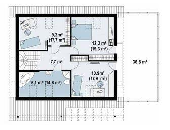 Diseño de casa de dos plantas con garage