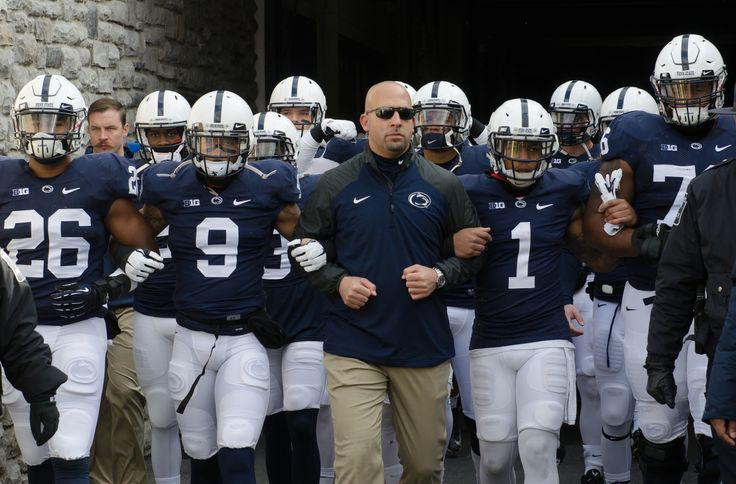 Penn State head coach James Franklin led the Nittany Lions onto the field prior to their Nov. 15 game vs. Temple at Beaver Stadium. Penn State defeated the Owls 30-13 and are now bowl eligible. (Photo: Cameron Hart)