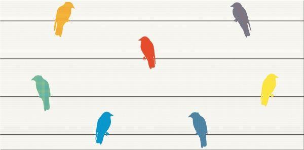 MUZI MULTICOLOUR INSERTO BIRDS 29,7X60 - Cersanit