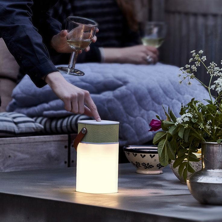 Create a relaxing environment in the home with this innovative aGlow Bluetooth speaker lantern from KREAFUNK. This two in one speaker and lantern works via Bluetooth or a line-in and features a dimmin