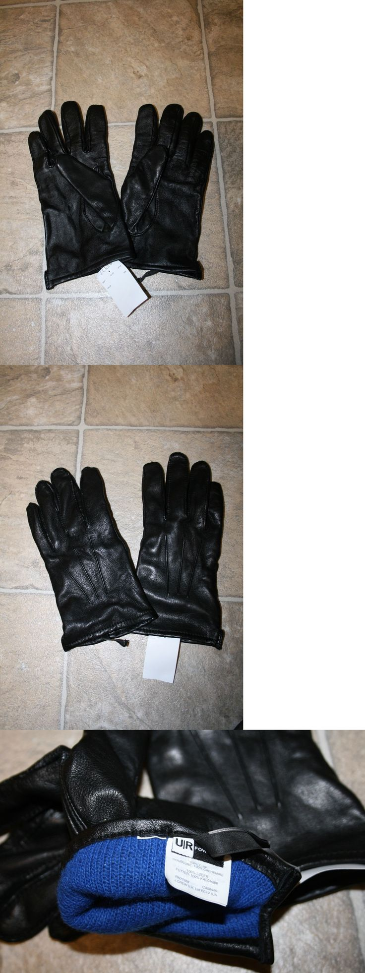 Gloves and Mittens 169278: New J. Crew Cashmere-Lined Leather Smartphone Gloves Black Size Large -> BUY IT NOW ONLY: $44.99 on eBay!