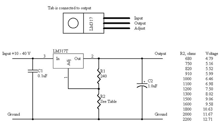 how to make a variable power supply using lm317