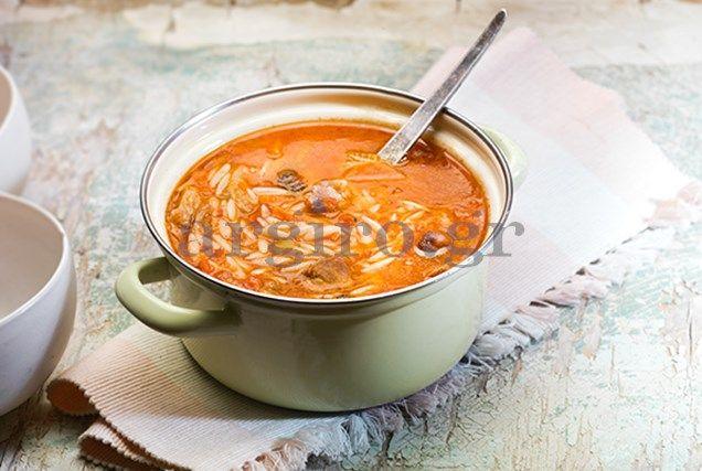 Κρεατόσουπα με κριθάρακι