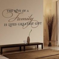 Love of a Family wall decals. $34  decalmywall.com