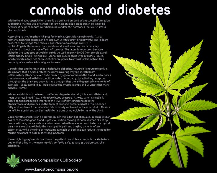 Cannabis and Diabetes - close to my heart