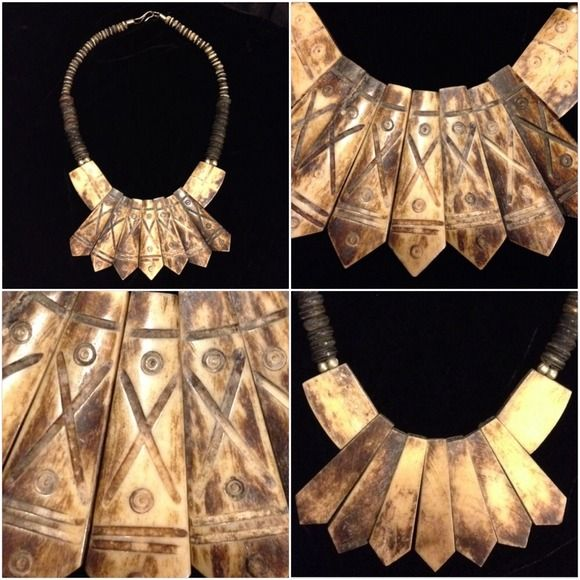😍 Vintage Camel Bone Statement Necklace UNIQUE Mesmerizing! Unique and vintage genuine camel bone. Camels give unconditionally their whole life and body to owners, when they go to heaven, their bones are used in many things like jewelry. From India <3 I'm not in a hurry to let it go, I love it!!! Jewelry Necklaces