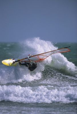 Windsurfing in Maremma. Picture by Andrea de Maria  #maremma #tuscany #sport