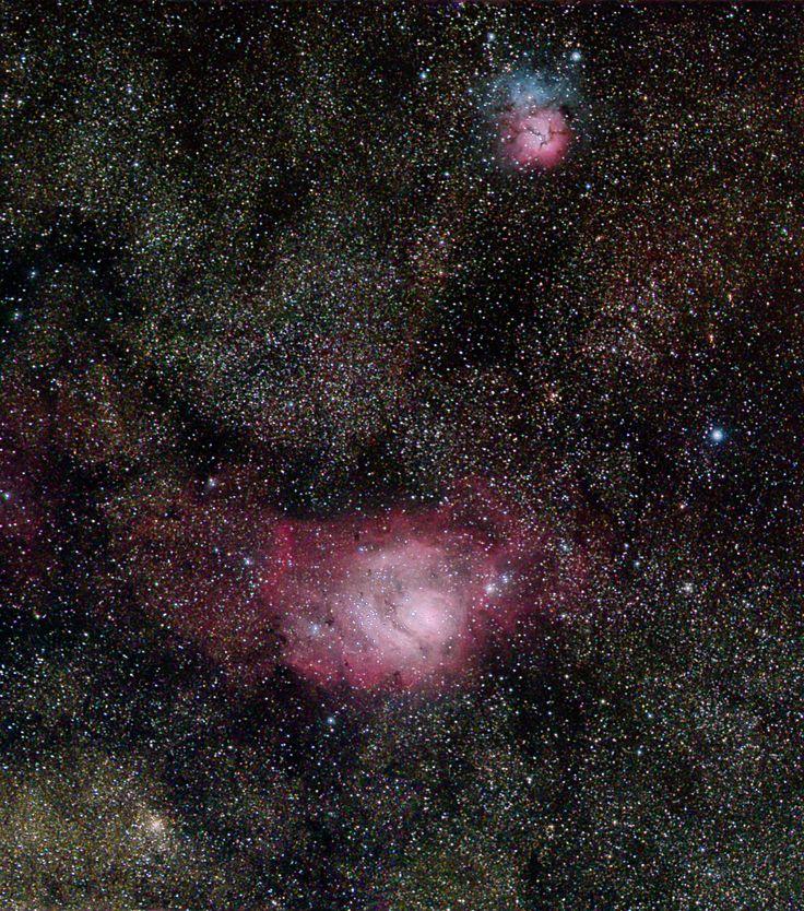 Six panel Mosaic of Lagoon(M8) and Trifid(M20) Nebula in the Constellation of Sagittarius