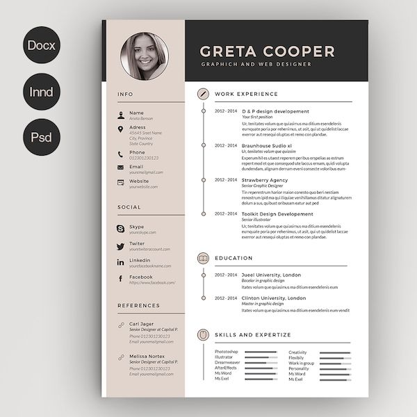 Creative Resume Template Microsoft Word Best Of Creative Resume Template Microsoft Word Fastlunchroc Creative Cv Template Creative Resume Templates Creative Cv