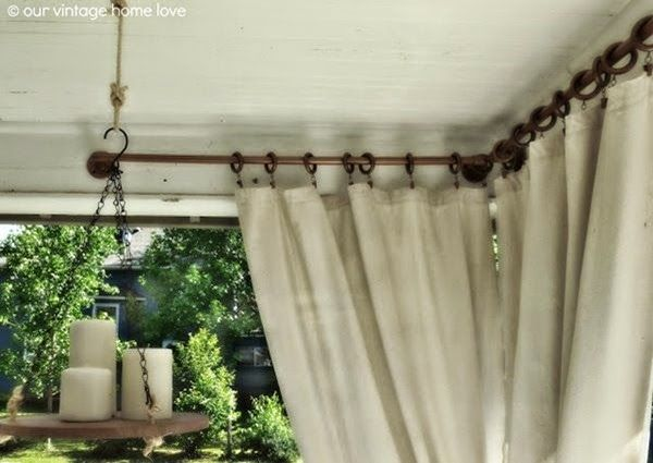 DIY Outdoor Furniture and Decor Ideas - Setting for Four love the candle holder idea!!!! very cool!!