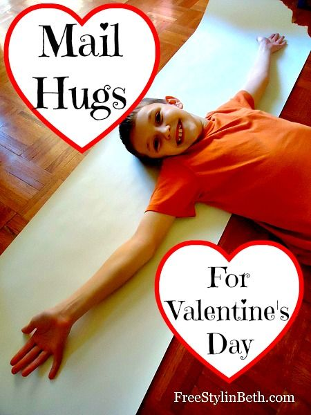 Mail a hug to your Valentine - perfect for out-of-town family and friends. www.freestylinbeth.com