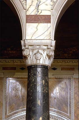 Marble columns in Westminster Cathedral