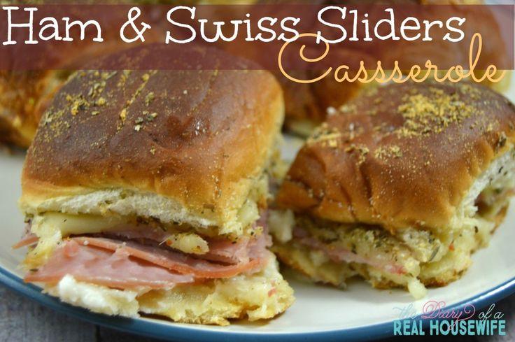 Ham and Swiss Sliders Casserole on MyRecipeMagic.com