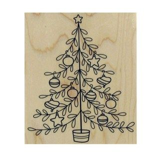 Decorated Tree Rubber Stamp | Shop Hobby Lobby