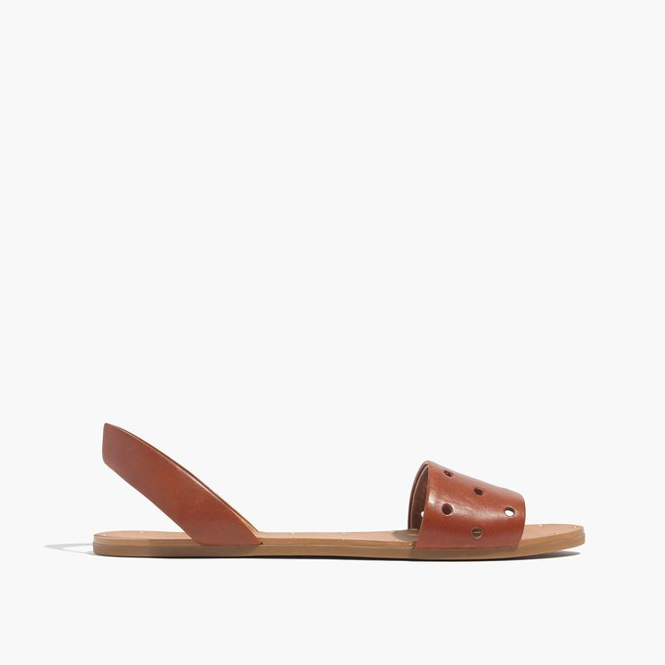 Madewell The Abbi Slingback Sandal In Holepunch