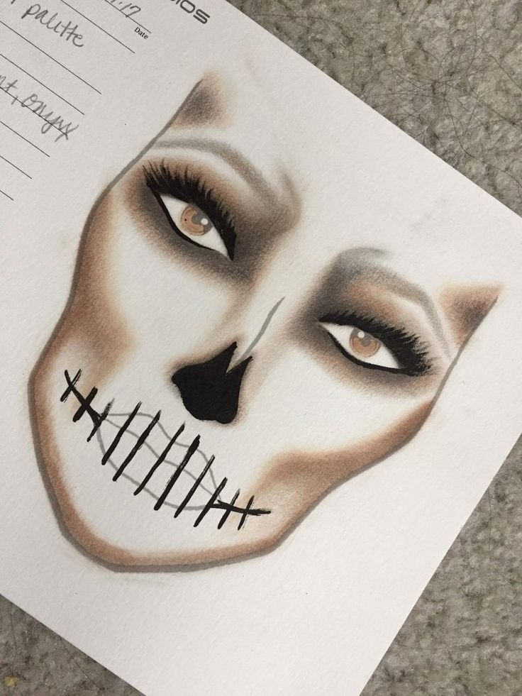 HOW TO: CONTOUR SKELETON MAKEUP & TUTORIAL Be the glamest ghoul at the ball with this easy Halloween Skeleton Makeup Tutorial.