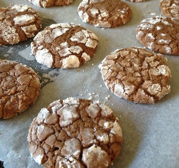 Simply decadent Chocolate Crackle cookies for the kids to make for their school lunch box.