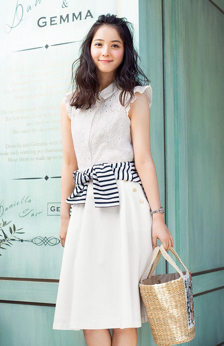 レースブラウス着まわし3つ♡佐々木希が女のコらしい着こなしを紹介   with 2015年6月号   iQON(アイコン)