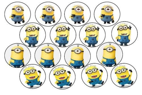 Minion template despicable me and cupcake toppers on pinterest