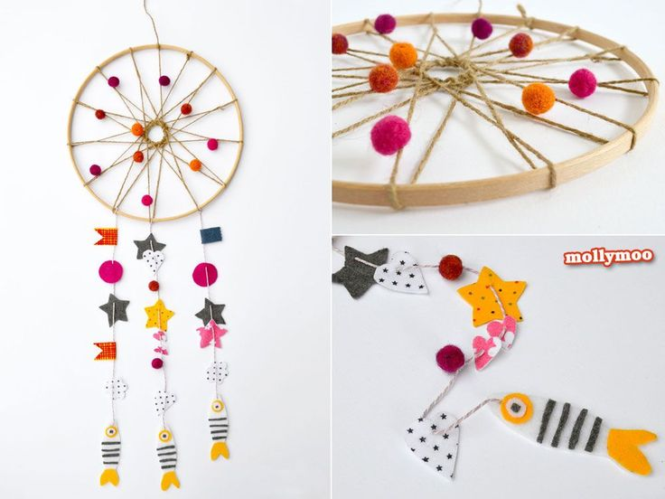 How To Make A Pretty Felt Dream Catcher | MollyMoo