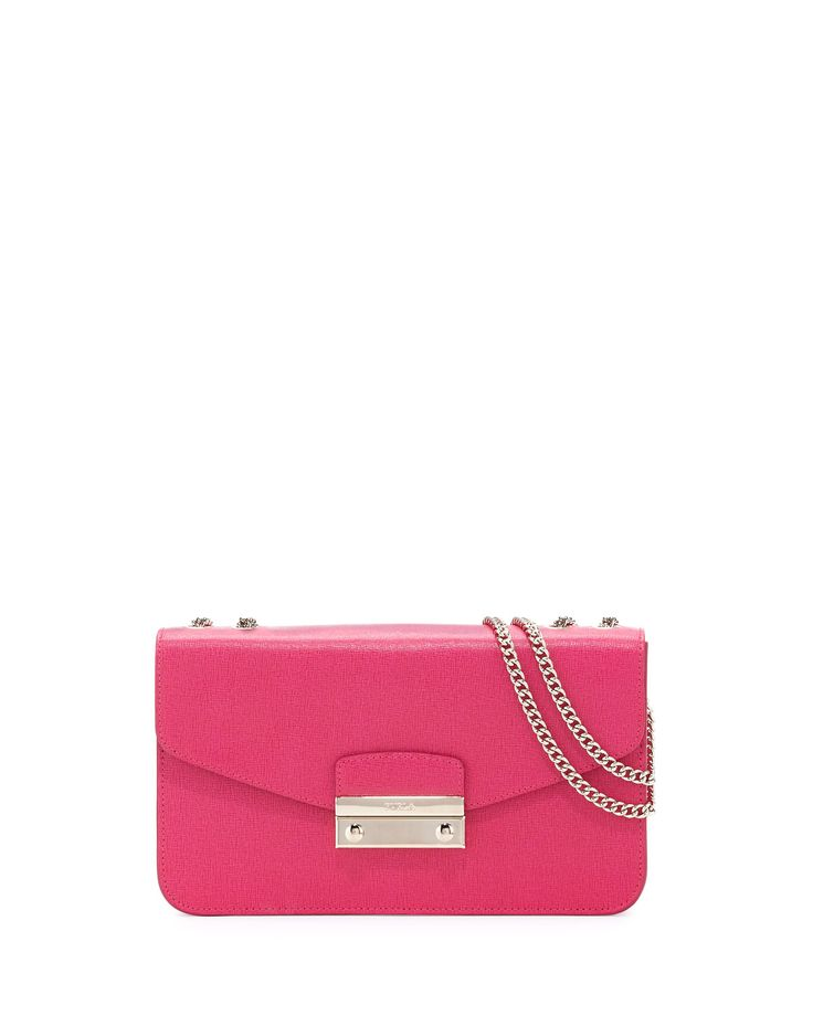 Furla Julia Small Leather Pochette Bag, Gloss, Women's