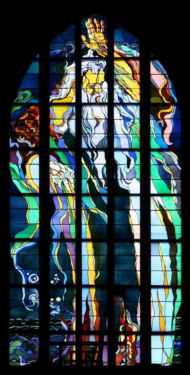 St. Francis stained-glass, Stanislaw Wyspianski (1869-1907)