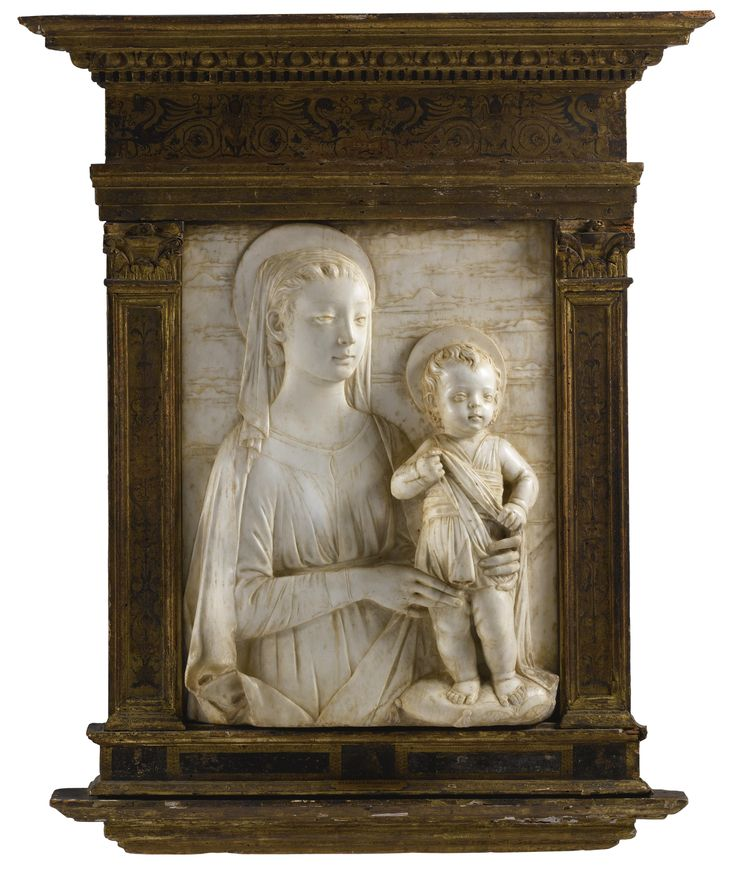 An Italian marble relief of the Madonna and Child, by Domenico Rosselli (circa 1439–1498)