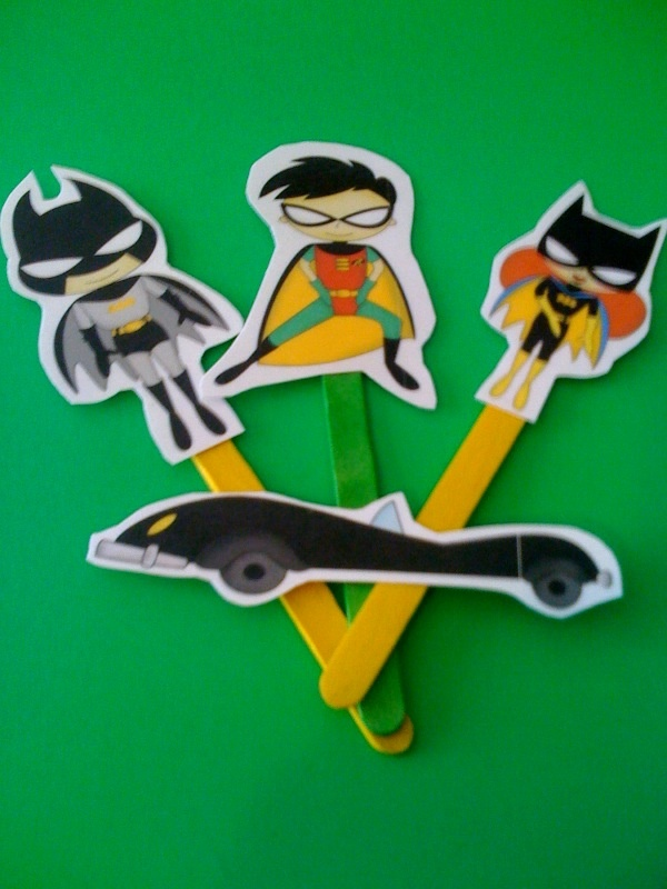Free Batman Puppet Stick Printables