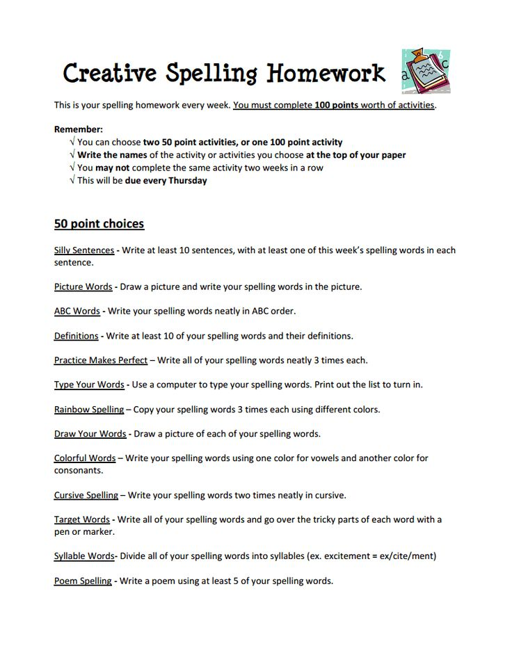 72 Ways to Practice Spelling Words - Summit Hill