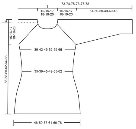 "Green Forest - Strikket DROPS bluse i ""Cotton Merino"" eller ""Belle"" med hulmønster og raglan. Str S - XXXL. - Free pattern by DROPS Design"