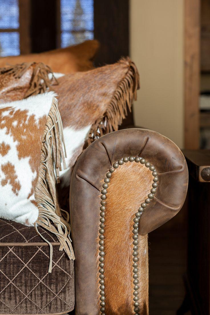 Love these cushions. Austin Cabin | High Camp Home Interior Design | Truckee, CA